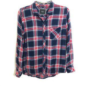 Rails Blue Red White Plaid Button Up Flannel Shirt